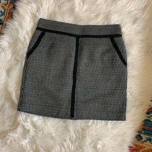 Ann Taylor Loft Tweed Mini Skirt With Pockets